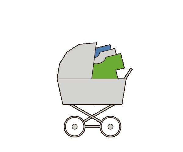 Illustration Kinderwagenmethode
